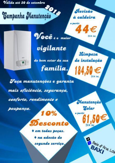 Campanha para revisão da caldeira, manutenção solar e limpeza de instalação